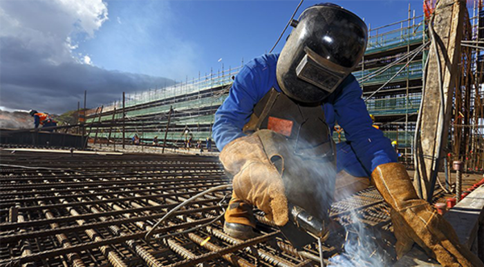 Phần lớn khung/ giàn sử dụng trong ngành xây dựng cần tới công nghệ hàn