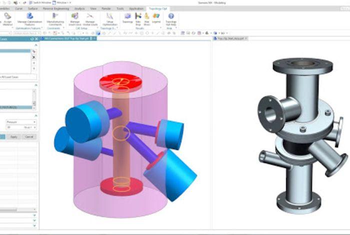 Giao diện của phần mềm vẽ kỹ thuật NX