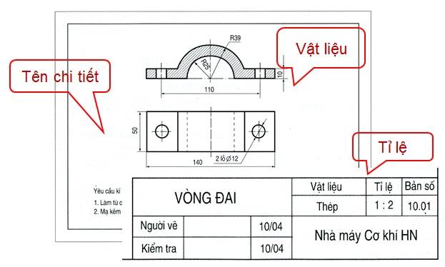Rất nhiều thông số quan trọng được thể hiện ngay tại khung tên bản vẽ