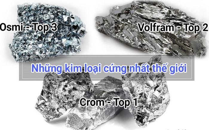Top 3 kim loại có độ cứng lớn nhất thế giới