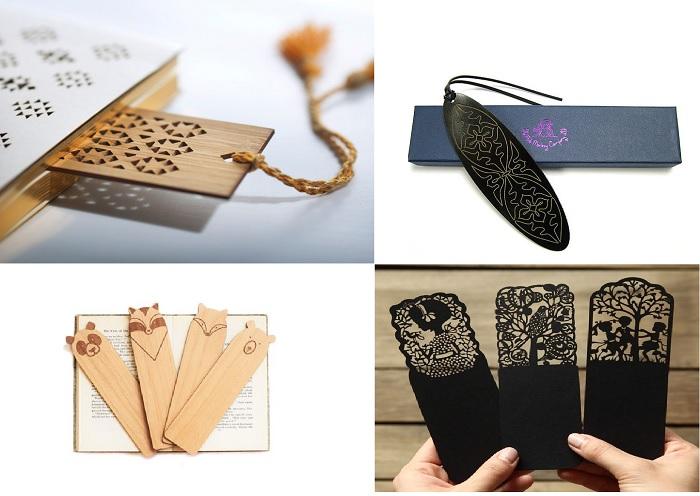 Dấu trang bằng gỗ hoặc sắt cắt khắc bằng laser